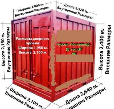 Контейнер 5т.3т. в аренду контейнера - Петрозаводск